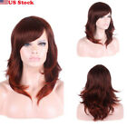Fashion New Women Ladies Cosplay Red Brown Lob Floppy Curly Wigs