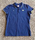 UNIVERSITY OF MICHIGAN WOLVERINES NCAA POLO GOLF SHIRT BY TEAM NIKE L 12 14