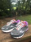 SAUCONY Ride 6 Womens Running Shoes SZ 7 Gray Purple Pink GUC