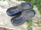 Womens Dansko Ankle Boots Size 65 BM Casual Solid Black Leather All Weather