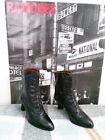 VTG MORGAN TAYLOR BLACK LEATHER VICTORIAN LACE UP GRANNY BOOTS WOMENS SZ 75 N