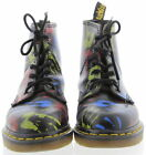 Womens DR MARTENS Limited Edition Multi Color Hand Print Combat Boots Size 55