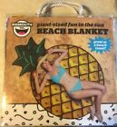 Giant Fun Pineapple Beach Pool Blanket Towel 575 ft x 4 ft Zippered Bag