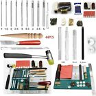 44 Pieces Wood Craft Hand Stitching Sewing Tools for Leather Stamping Kit Set