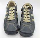 Steve Madden Athletic Shoes Sneaker Womens sz 55 M Black Beige Striped Leather
