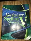 A BEKA BOOK VOCABULARY SPELLING POETRY V 5th Edition Textbook Abeka