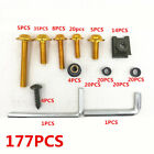 Motorcycle Bike Fairing Bolts Kit Golden Bodywork Screws Fasteners Clips Set New
