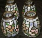 ***4 DALE TIFFANY LEADED STAINED GLASS  JEWELED LAMP SHADES****
