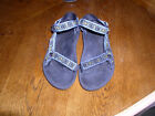 Womens TEVA Black Hiking Water Sport Sandals Size 9 W Excellent
