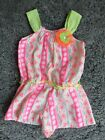 Adorable Little Lass Geometric Print Romper Toddler Girl Size 3T