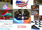 High Top LED Light Lace Up Shoes Unisex Sportswear Sneaker Led Dance Shoes