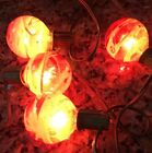 Unique Lot Of 4 Red Swirl Color Christmas Light Bulbs