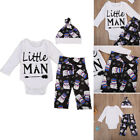 Newborn Baby Boys Chritmas Outfits Casual Romper Top Leggings Pants Hat Clothes