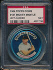 1964 Topps Coins #131-L Mickey Mantle Left-Handed PSA 7 (BB01)