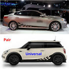 Universal Car Autos Decal Vinyl Graphics Side Stickers Body Decals Stickers 2PCS
