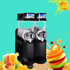 2017 Slush Making Machine 2 Tank Snow Frozen Drink Slushy Smoothie Maker US/EU #