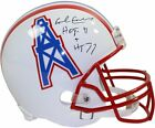 Earl Campbell Signed Houston Oilers Riddell Replica Throwback Helmet w/ Heism...