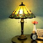 Tiffany Style Table Lamp Victorian w 155 Shade Glass Handcrafted Desk Lamp