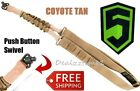 Phase 5 Coyote Single Point Bungee Sling MOLLE QD Connect PUSH BUTTON Quick Dtch