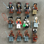 Lego PIRATES OF THE CARIBBEAN MINIFIGURE LOT Jack Sparrow Barbossa