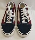 Vans Old Skool Navy Maroon Off White Suede Sneakers Shoes Lace Up Kids Size 1