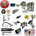 80cc Big Bore Kit Performance Power Pack Black Exhaust 139QMB Chinese Scooter