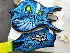 Gene Simmons Cort Punisher bass custom painted by Gentry Riley - Kiss Axe Demon
