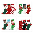 TeeHee Christmas Holiday Cozy Fuzzy Crew Socks 3 Pack for Women Super Soft