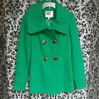 KUT from the Kloth Womens Vintage Downtown Coat Kelly Green Large