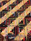Handquilted handmade 94 X 74 1920s 30s fabric top new material backing