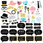 52ct Bridal Shower Wedding Photo Booth Party Props Kit Photography Back Drop