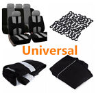 5 Seats Durable Car Chair Protective Accessories Front+Rear Seat Covers BLK Gray
