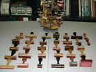 VINTAGE COLLECTIBLE - 55 POST OFFICE RUBBER STAMPS & STAMP HOLDER CAROUSEL