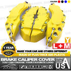 4x Yellow Brake Caliper Covers Style Disc Universal Car Front Rear Kits L+M LW01