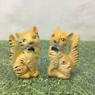 Cats Kittens Orange Black Salt and Pepper Shakers Mid Century Vintage Ks
