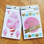 Lot of 2 Sticker Books Planner Food Themes Recollections