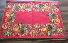 4    PLACE MATS   BY  DESIGNER  APRIL CORNELL  * FLORAL PATTERN ON RED *