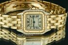 Cartier Lady Panthere 18k Yellow Gold 22mm Beige Dial Diamond Bezel - Pre-Owned