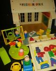Vintage Fisher Price Little People 923 Play Family School House and Accessories