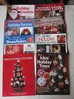 Lot of 8 Christmas Plastic Canvas Patterns Books Magazines Leaflets 4