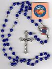 Knights of Columbus Dark Blue Jade Rosary 6mm Beads