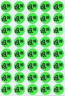 Color Coding Round 19mm Labels Neon Green Stickers Garage Sales Inch 1040 Pack