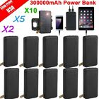 LOT 10PCS 300000mAh Solar Panel External Battery Charger Power Bank For Phone BP