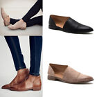 Women Gladiator Loafers Shoes Ladies Slip On Flat Pointed Toe Leather Shoes Size