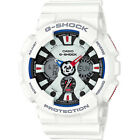 Casio G-Shock Men's GA120TR-7A Solar White Dial White Resin Band 51.5mm Watch