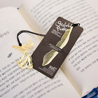 Lovely 1pc Gold Plated Metal Hollow Animal Feather Bookmark Paper Book Reading