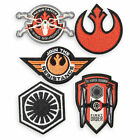 NIP Disney Store Star Wars Force Awakens 5 Embroidered Badges Patches Set Rebels
