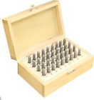 BENCH WIZARD Number  Capital Letter Punch Set In Wooden Case 36 Pc  2mm 3 32