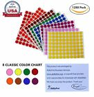 Colored Labels 1 2 Inch 13mm Round Dot Stickers Permanent Adhesive 1280 Pack