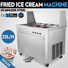 Double Pan Fried Ice Cream Machine Commercial Stainless Steel Yogurt Making